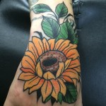 sunflower hand Tattoo, sunflower Tattoo For women, womans sunflower Tattoo, sunflower Tattoo For woman, sunflower Tattoo, Small womens Tattoo, Sunflower Tattoo