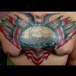 Tattoo Ideas, Traditional Tattoos, ship Tattoo, Tattoo Inspiration, Google Search, boat Tattoos, Traditional ship Tattoo, riverboat Tattoo, Chest tattoo, Chest boat, chest piece, Iron Tiger, Columbia MO, Gabe Garcia