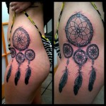 rib tattoo, side tattoo, dreamcatcher, for woman, women
