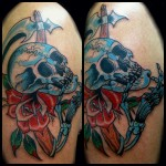 Traditional Tattoos, Skull Tattoo, Tattoo Inspiration, Skull Tattoos, Traditional Skull Tattoo, SkullTattoo, grim reaper, tattoo, Tattoo Ideas,