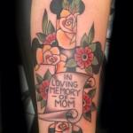Traditional, Cross tattoo, Iron tiger, Columbia MO, Gabe Garcia
