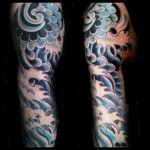 japanese water tattoo, water, tattoo, element, irezumi, great wave, tattoo